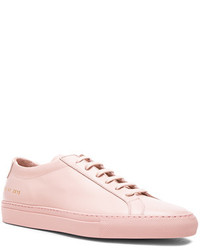 Common Projects Original Leather Achilles Low In Pink
