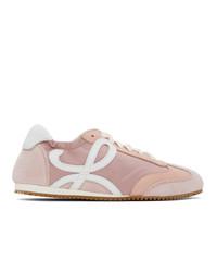 Loewe Pink And White Ballet Runner Sneakers
