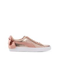 Puma Rear Bow Metallic Sneakers