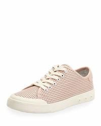 Rag & Bone Standard Issue Perforated Low Top Sneaker Pink