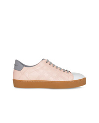 Burberry Tri Tone Perforated Check Sneakers
