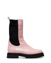 MARQUES ALMEIDA Marquesalmeida Pink Klara Leather Army Boots