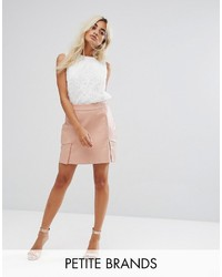 Fashion Union Petite Faux Leather Mini Skirt