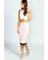 Missguided Wrap Front Faux Leather Mini Skirt Pink | Where to buy ...