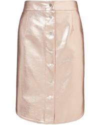 Pink foil leather magnesia skirt medium 236313