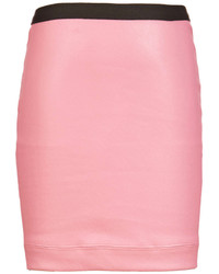 Helmut Lang Plonge Leather Mini Skirt