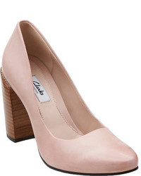 Clarks Crumble Cream Dusty Pink Leather Casual Shoes