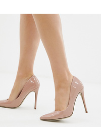 Missguided High Heeled Patent Court Shoe In Blush
