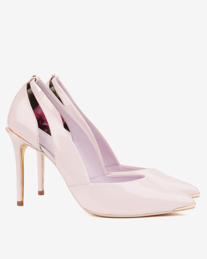 4a4b07792887 ... Pink Leather Pumps Ted Baker Jiena Cut Out Leather Court Shoes ...