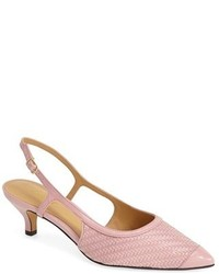 Trotters Kimberly Woven Leather Slingback Pump