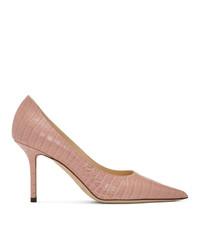 Jimmy Choo Pink Croc Love 85 Heels