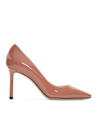Jimmy Choo Pink Patent Romy 85 Heels