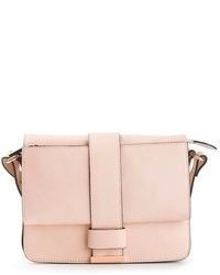 Pink Leather Satchel Bag