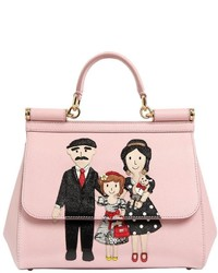 Dolce & Gabbana Medium Sicily Family Patches Leather Bag
