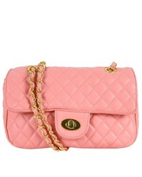 Kathie Fashion Paige Quilted Shoulder Bag Pink