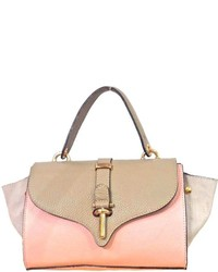 Leather Country Pink Taupe Satchel