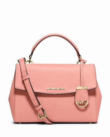 6e5dddae417e ... Pink Leather Satchel Bags MICHAEL Michael Kors Michl Michl Kors Ava  Small Saffiano Leather Satchel
