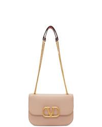Valentino Pink Garavani Small Vlock Shoulder Bag