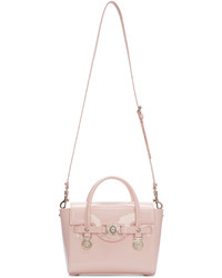 Versace Pink Leather Medusa Medallion Satchel