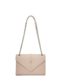 Saint Laurent Pink Medium Envelope Bag