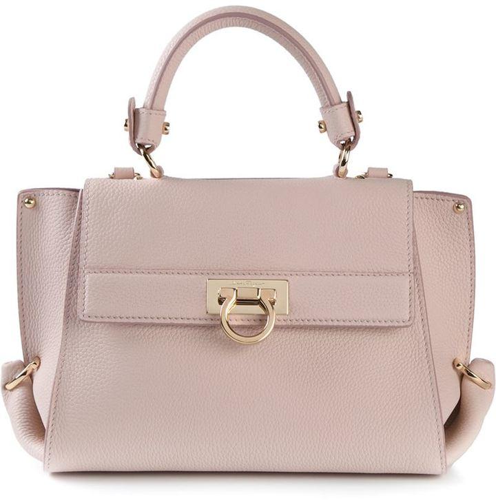 32632ab61e91 ... Leather Satchel Bags Salvatore Ferragamo Sofia Satchel