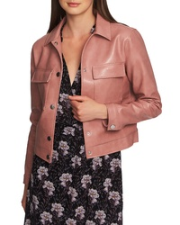 1 STATE Patch Pocket Faux Leather Jacket