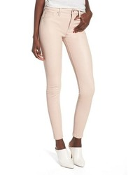 Hudson Jeans Barbara High Waist Ankle Skinny Leather Jeans