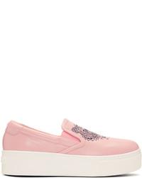 Kenzo Pink K Py Tiger Platform Slip On Sneakers