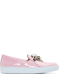 Versace Pink Patent Medusa Sneakers