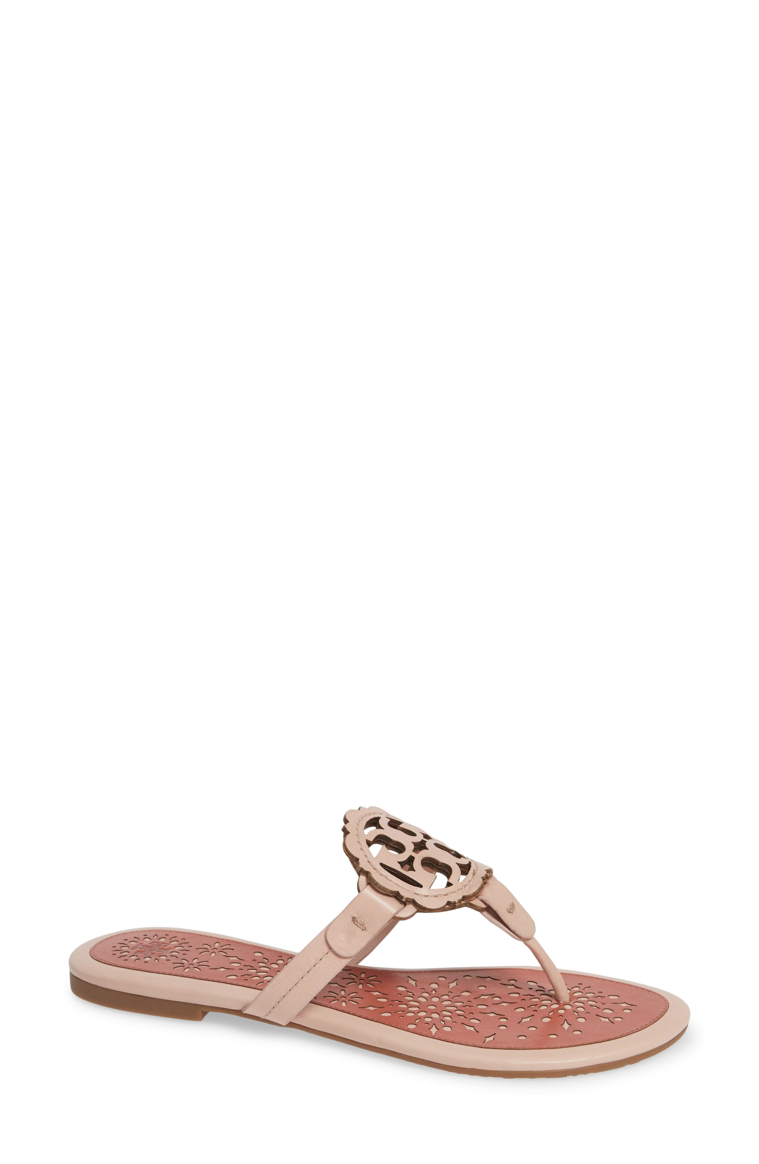 f551dcc82b4 ... Thong Sandals Tory Burch Miller Scalloped Medallion Sandal