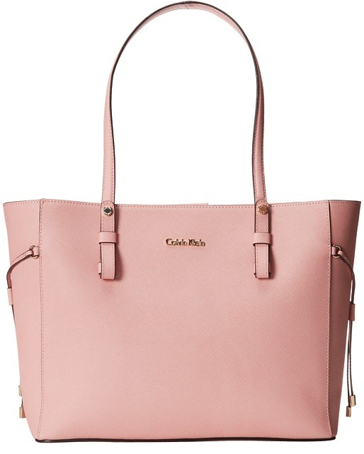 pink leather tote bag calvin klein key item leather tote h4aa12gm. Black Bedroom Furniture Sets. Home Design Ideas