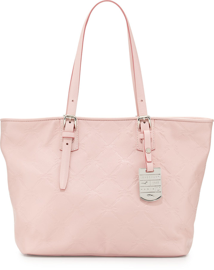 e46ed10c90a Longchamp Lm Small Cuir Leather Shoulder Tote Bag Petal Pink, $575 ...