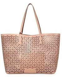 Elizabeth and James Perforated Leather Tote