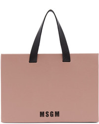 MSGM Pink Medium Logo Tote