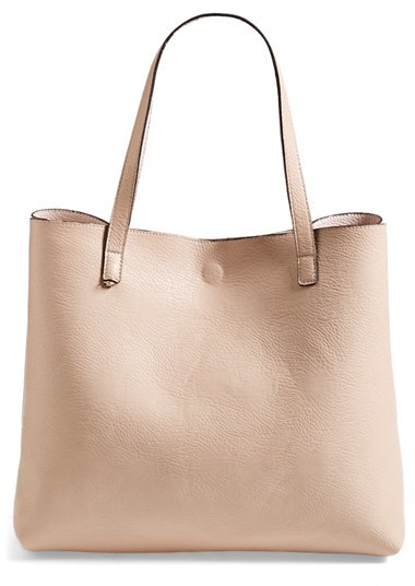 Bags Street Level Reversible Faux Leather Tote Wristlet