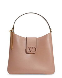Valentino Garavani Vsling Calfskin Hobo Bag