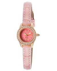 Invicta Angel Pink Dial Pink Genuine Leather