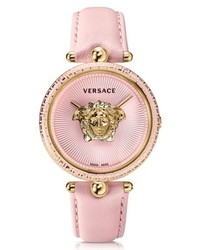 Versace Palazzo Empire Leather Strap Watch 39mm