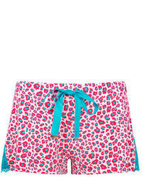 Pink Leopard Shorts