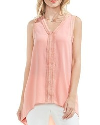 Vince Camuto Ribbon Trim Highlow Blouse