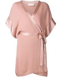 Fleur du mal georgette wrap kimono medium 547506
