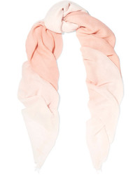 Ombr cashmere and silk blend scarf pink medium 4393611