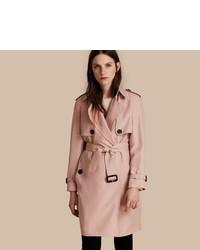 Burberry Lightweight Slub Silk Wrap Trench Coat