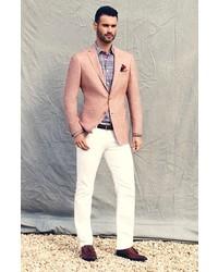 Hart Schaffner Marx New York Classic Fit Wool Linen Blazer | Where ...