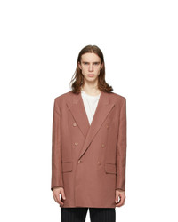 Paul Smith Pink Linen Longline Double Breasted Blazer