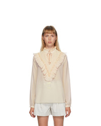 See by Chloe Pink Tte Frill Blouse