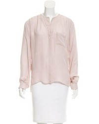 Parker Silk Long Sleeve Blouse