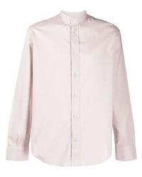 Eleventy Mandarin Collar Cotton Shirt