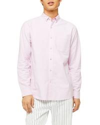 Topman Oxford Skinny Fit Stretch Cotton Shirt