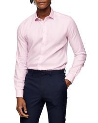 Topman Premium Textured Button Up Shirt